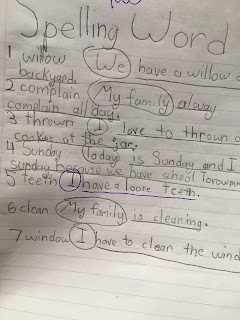 individualized spelling test