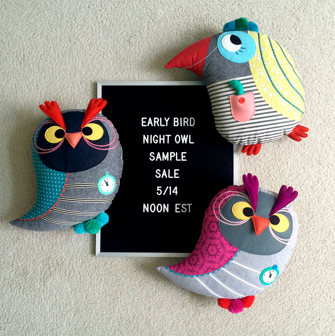 Mmmcrafts Early Bird Night Owl Sample Sale