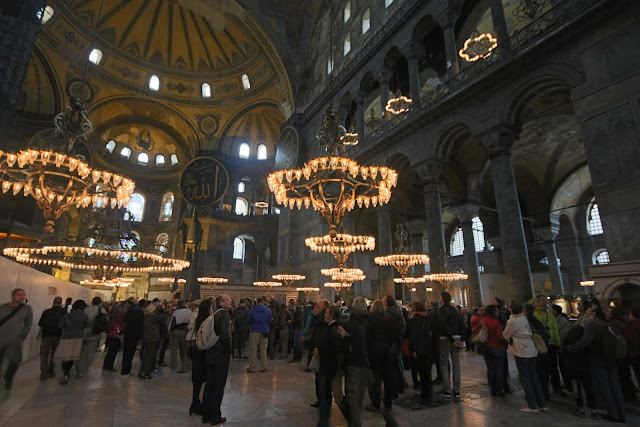 Hagia Sophia is always crowded and a must to visit attraction site in Istanbul, Turkey