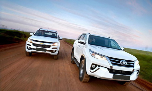 Chevrolet Trailblazer vs Toyota All-new Fortuner