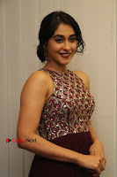 Actress Regina Candra Latest Stills in Maroon Long Dress at Saravanan Irukka Bayamaen Movie Success Meet .COM 0019.jpg