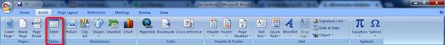 Cara Menambah Tabel, Gambar, Footer dan Header dalam Microsoft Word