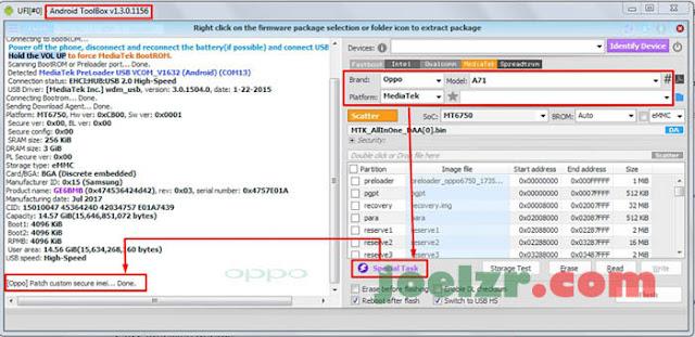 Cara memperbaiki Imei Oppo A71
