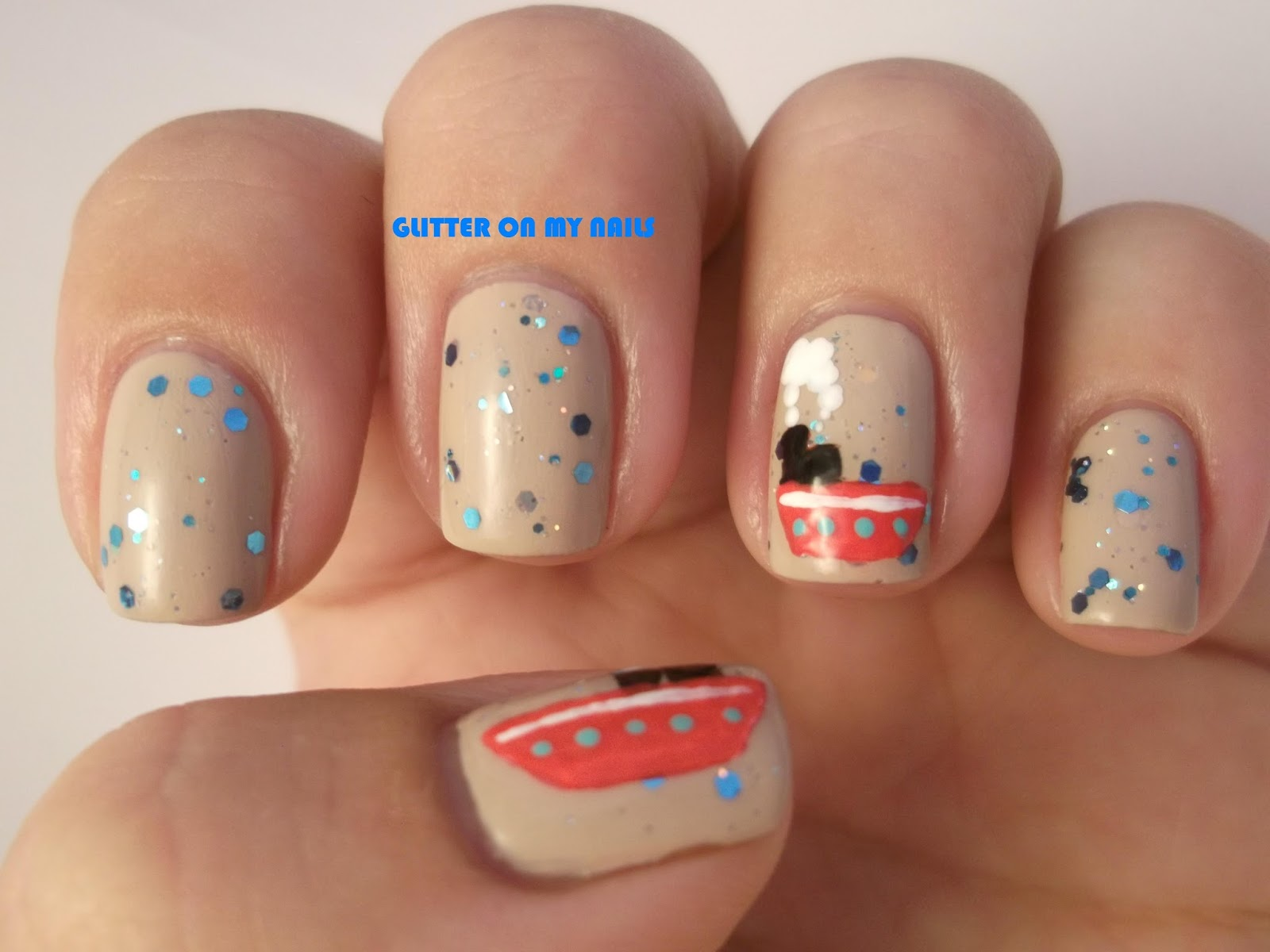 GLITTER ON MY NAILS: SUMMER NAILS #9 BARCOS