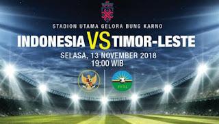Prediksi Timnas Indonesia vs Timor Leste - Piala AFF 2018