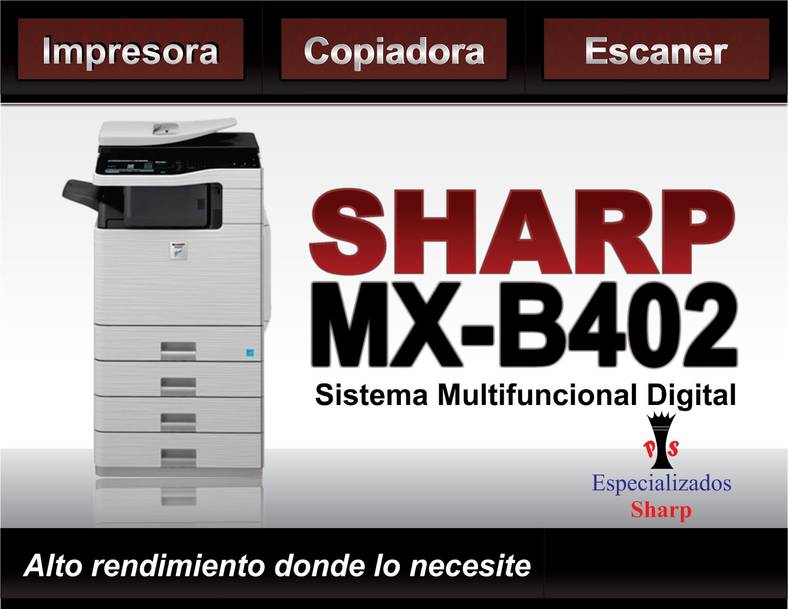 Mercado Libre Copiadoras Copiadora Sharp Mxb402sc Impresora Escaner Usb Copiadora