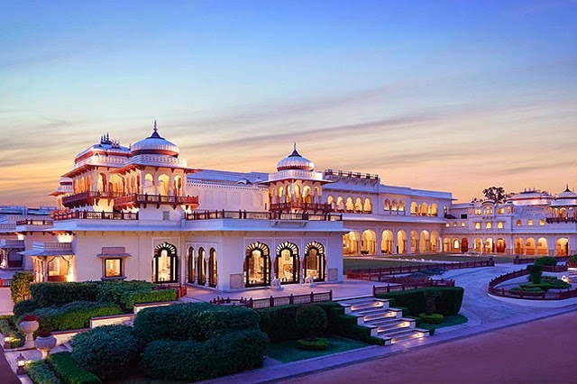 Taj Rambagh Palace in Jaipur, Rajasthan