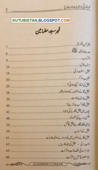 Contents of Khud Lazzati Urdu Book