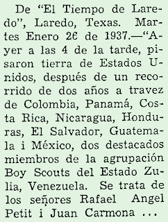 Museo virtual scouts venezuela pisaron tierra de - El clima en laredo texas ...