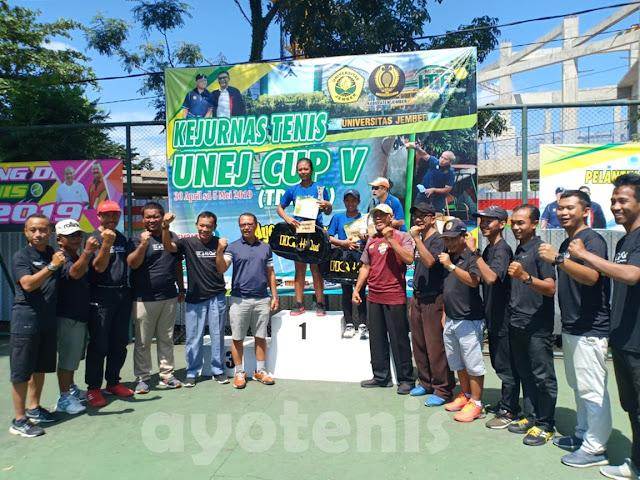 Juara Kejurnas Tenis Unej Cup V