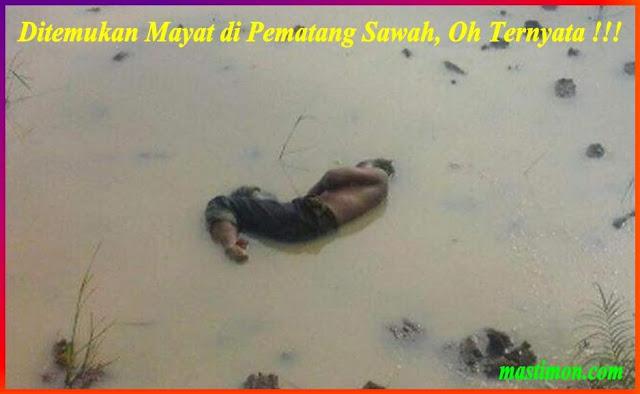 Ditemukan Mayat di Pematang Sawah, Oh ternyata !!!