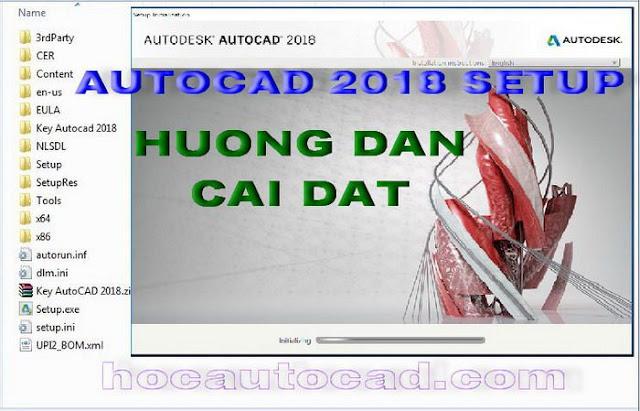 Hướng dẫn các bước cài đặt Autocad 2018, 2018
