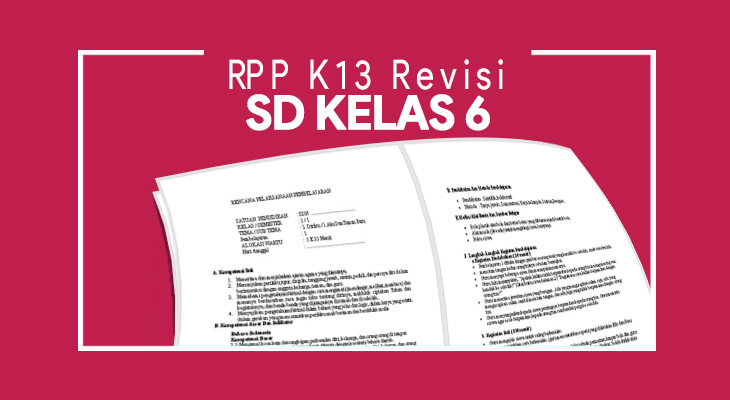 RPP K13 SD Kelas 6 Revisi
