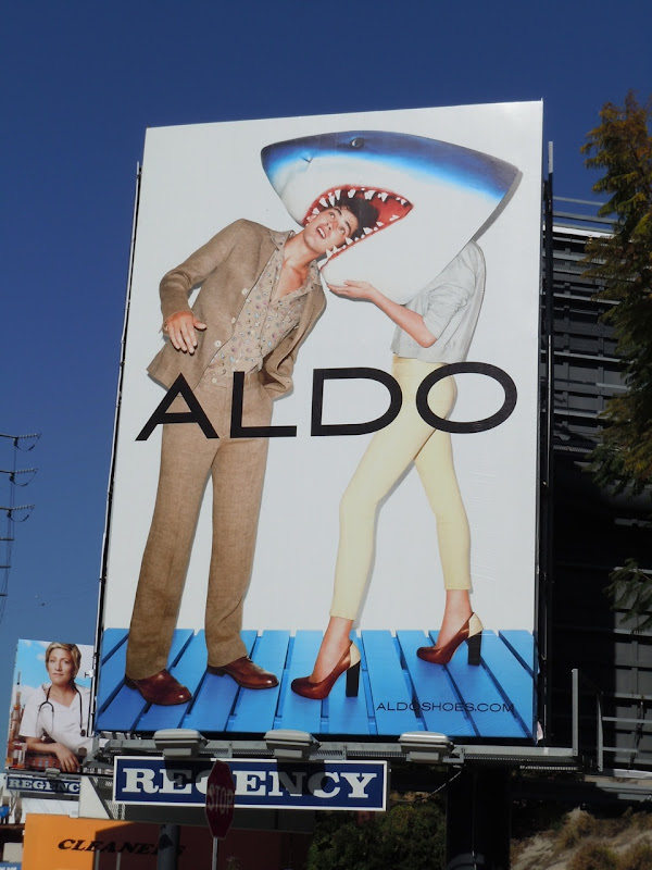 Aldo Shoes shark billboard