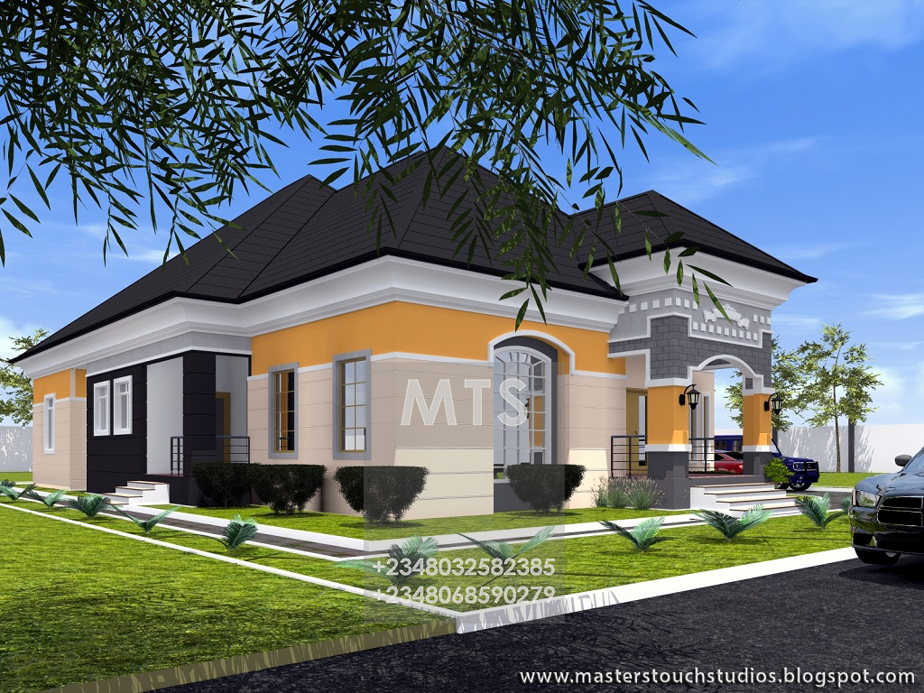Residential homes and public designs mr caesar 4 bedroom bungalow 4 bedroom bungalow designs nigeria