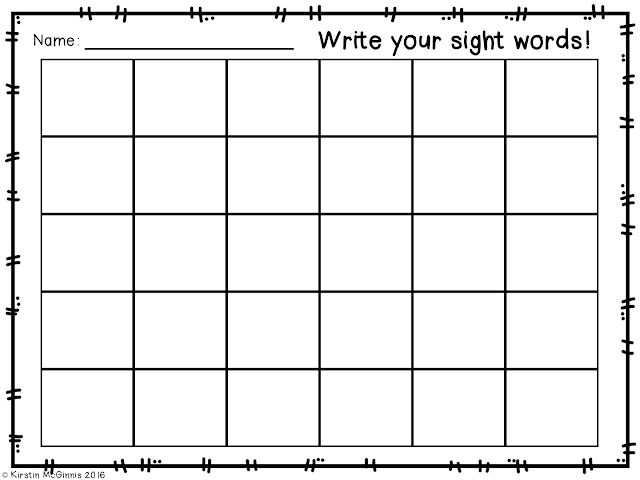 https://www.teacherspayteachers.com/Product/Sight-Word-Response-Sheet-FREEBIE-2692788