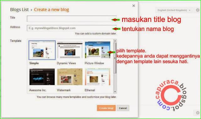 Langkah membangun blog bagi pemula,cara buat blog blogspot,