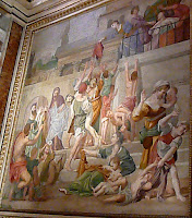 Part of the Domenichino fresco cycle at San Luigi dei Francesi