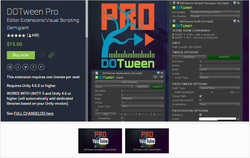DoTween Pro Unity 3d Free Download - Get Unity Paid Assets for free