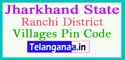 Ranchi District Pin Codes in Jharkhand State