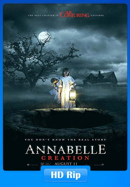 Annabelle Creation 2017 720p BDRip Hindi Tamil Telugu Eng | 480p 300MB | 100MB HEVC