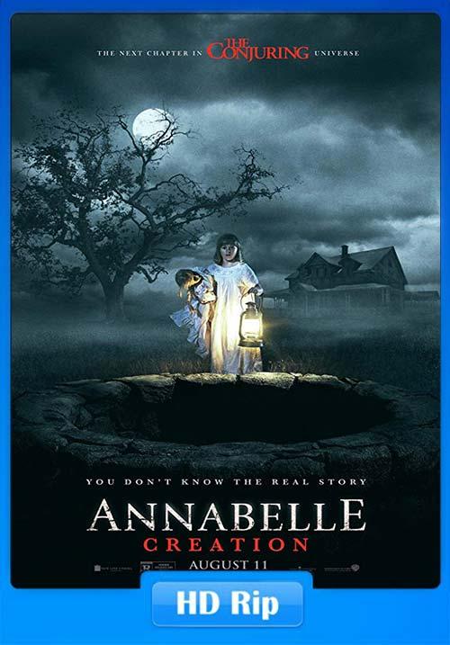 Annabelle Creation 2017 720p BDRip Hindi Tamil Telugu Eng | 480p 300MB | 100MB HEVC Poster