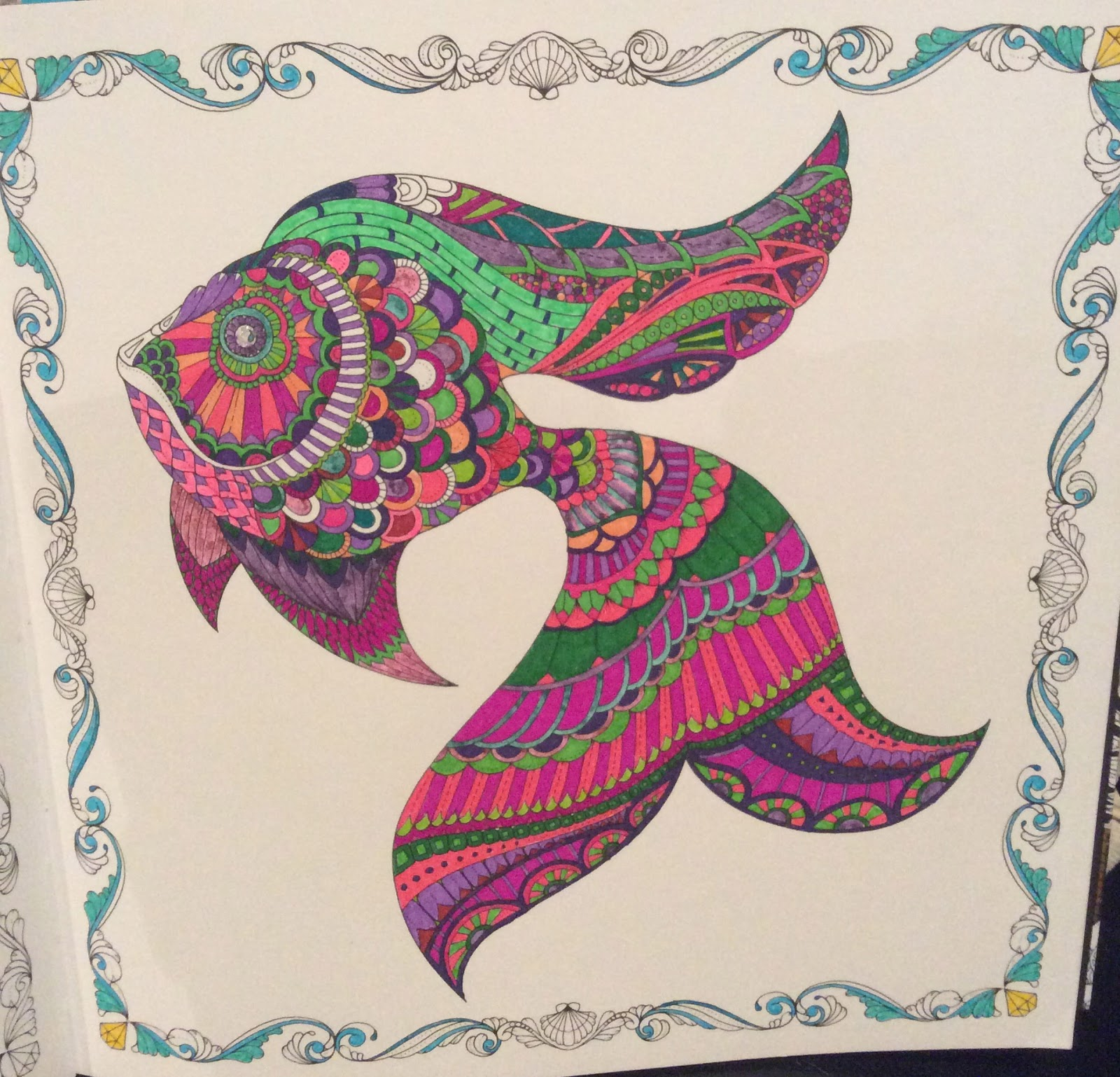 Lost Ocean Coloring Book Fish
