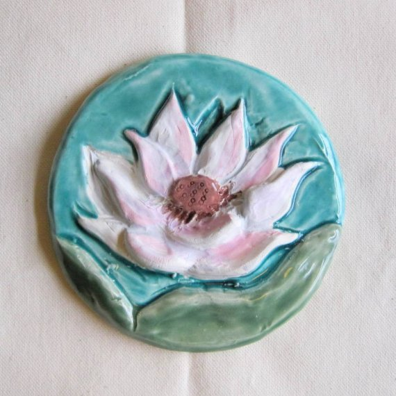 Lotus Ceramic Tile by JDaviesReazor