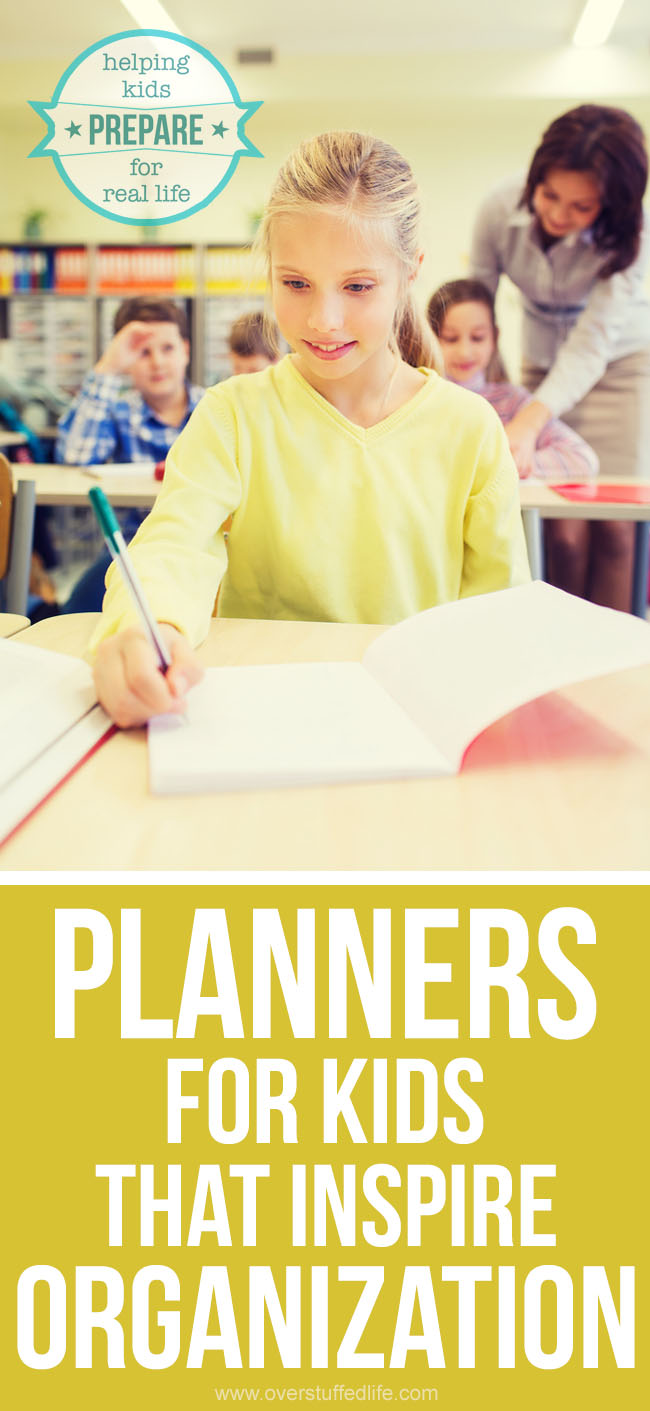 School planners for kids.