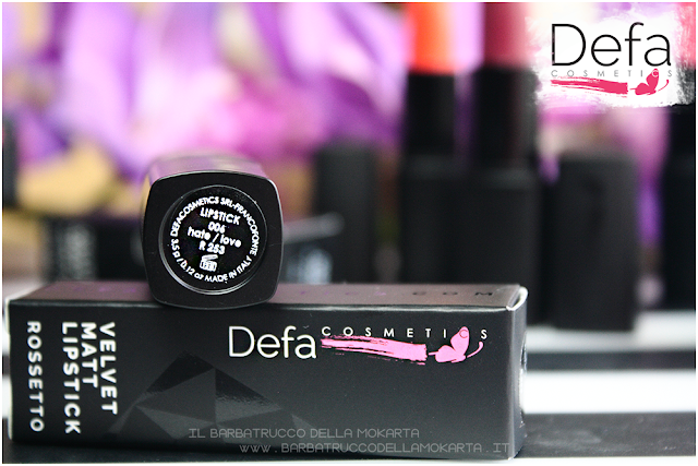 hate love Defa cosmetics lipstick recensione