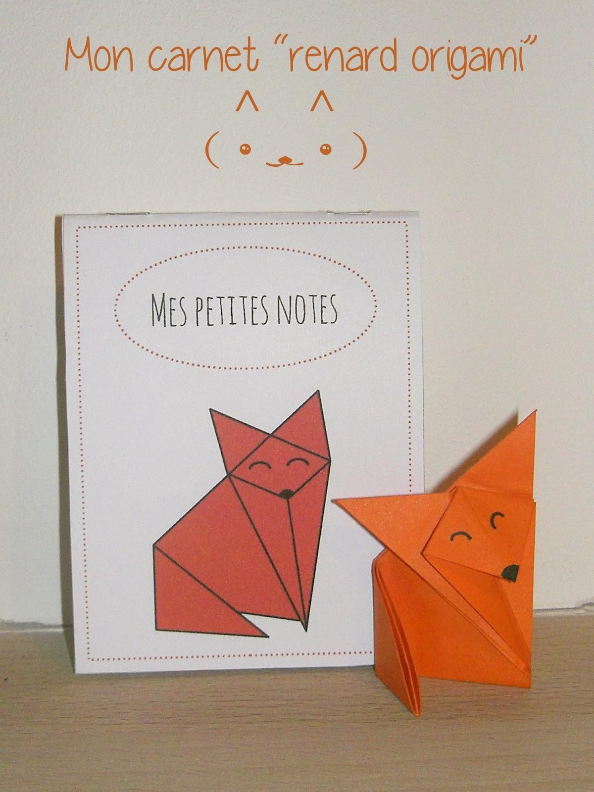 gabulle in wonderland carnet renard origami imprimer. Black Bedroom Furniture Sets. Home Design Ideas