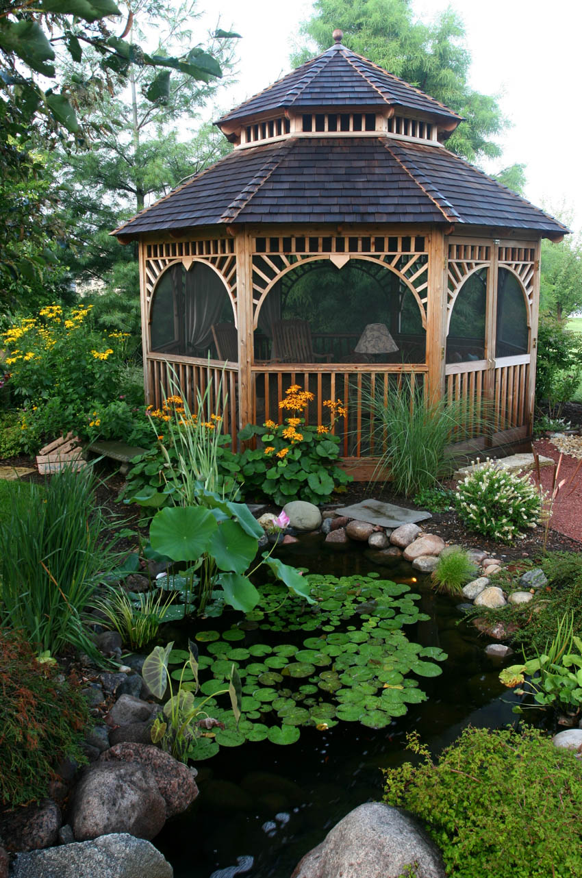 Water Gardens: Aquascape Your Landscape: Gazebos And Water Gardens: A