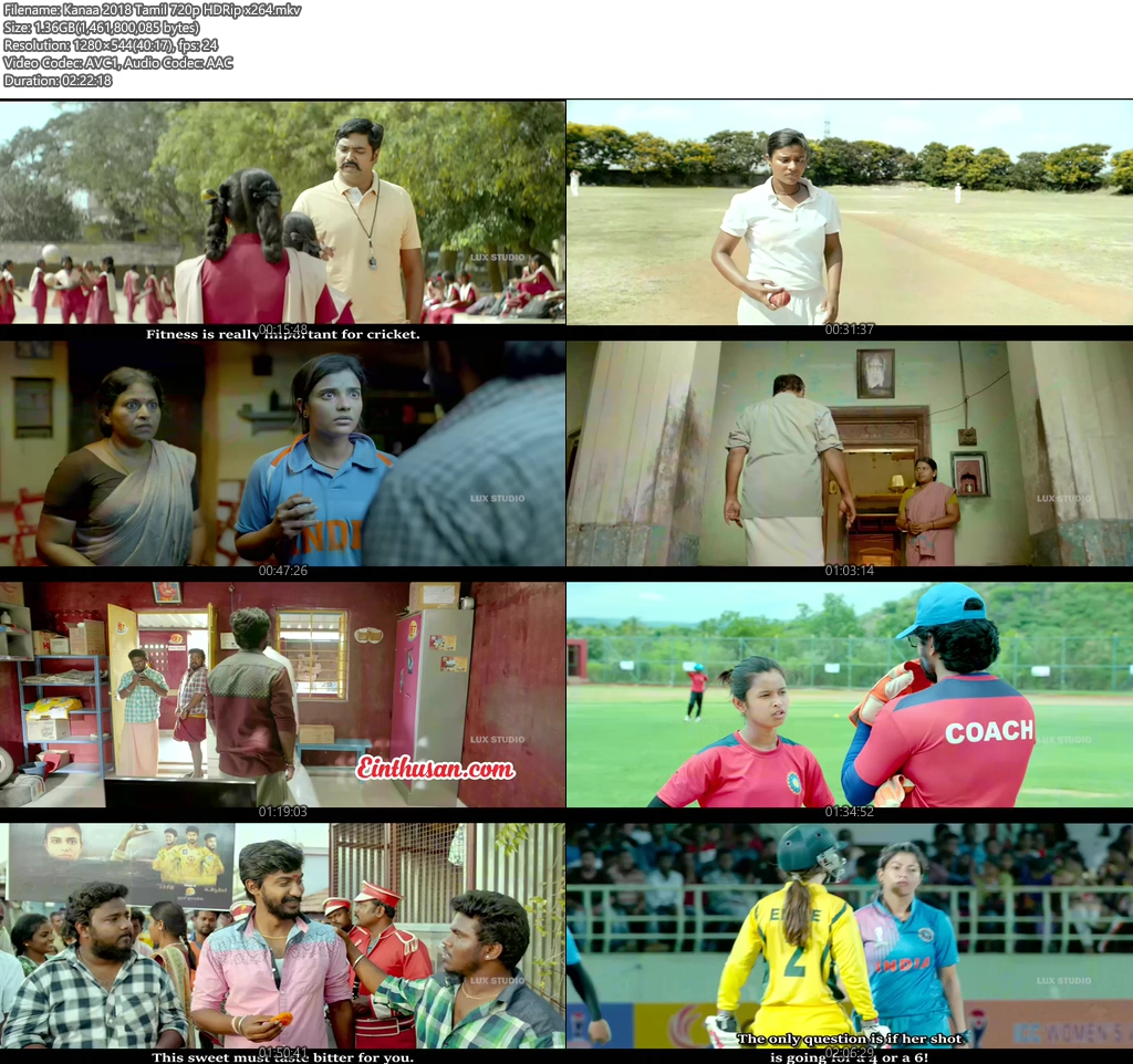 Kanaa 2018 Tamil 720p HDRip x264 | 480p 300MB | 100MB HEVC Screenshot