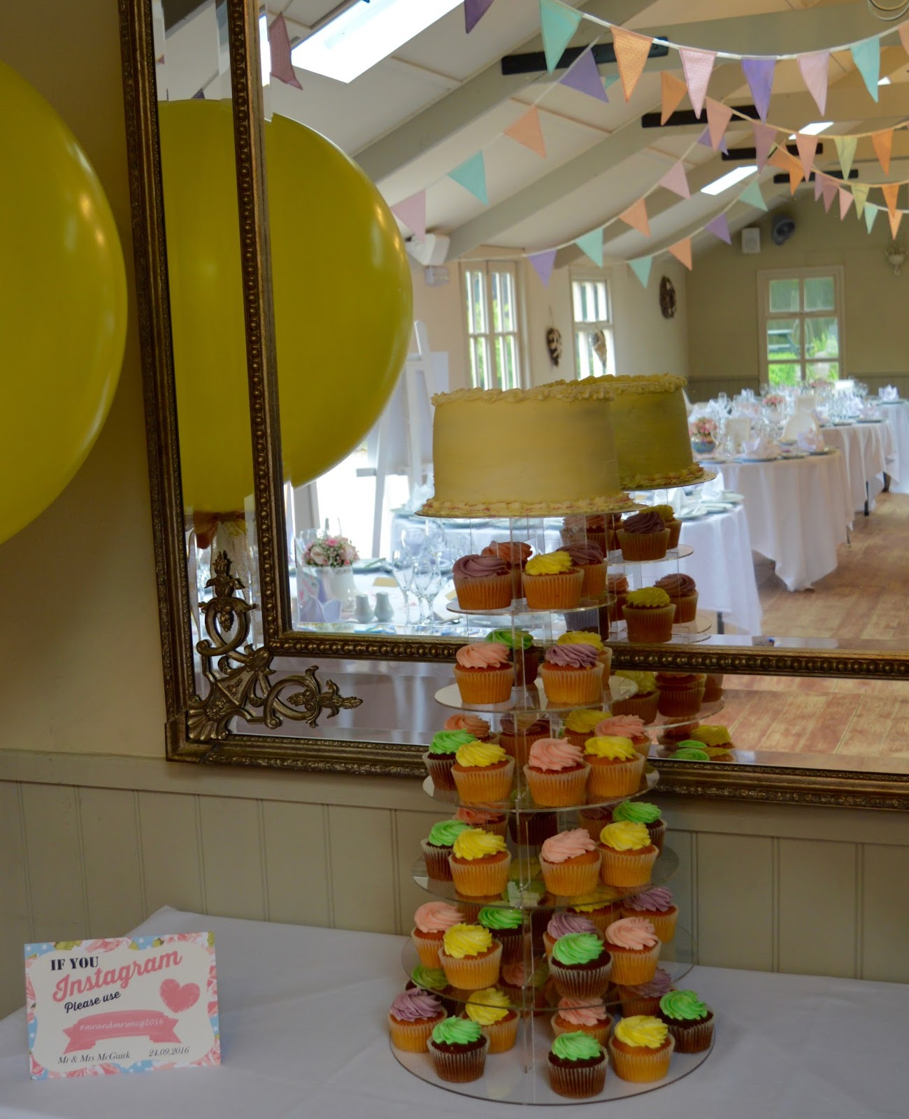 Weddings at The Parlour at Blagdon in Northumberland - wedding cake by Pet Lamb Girls