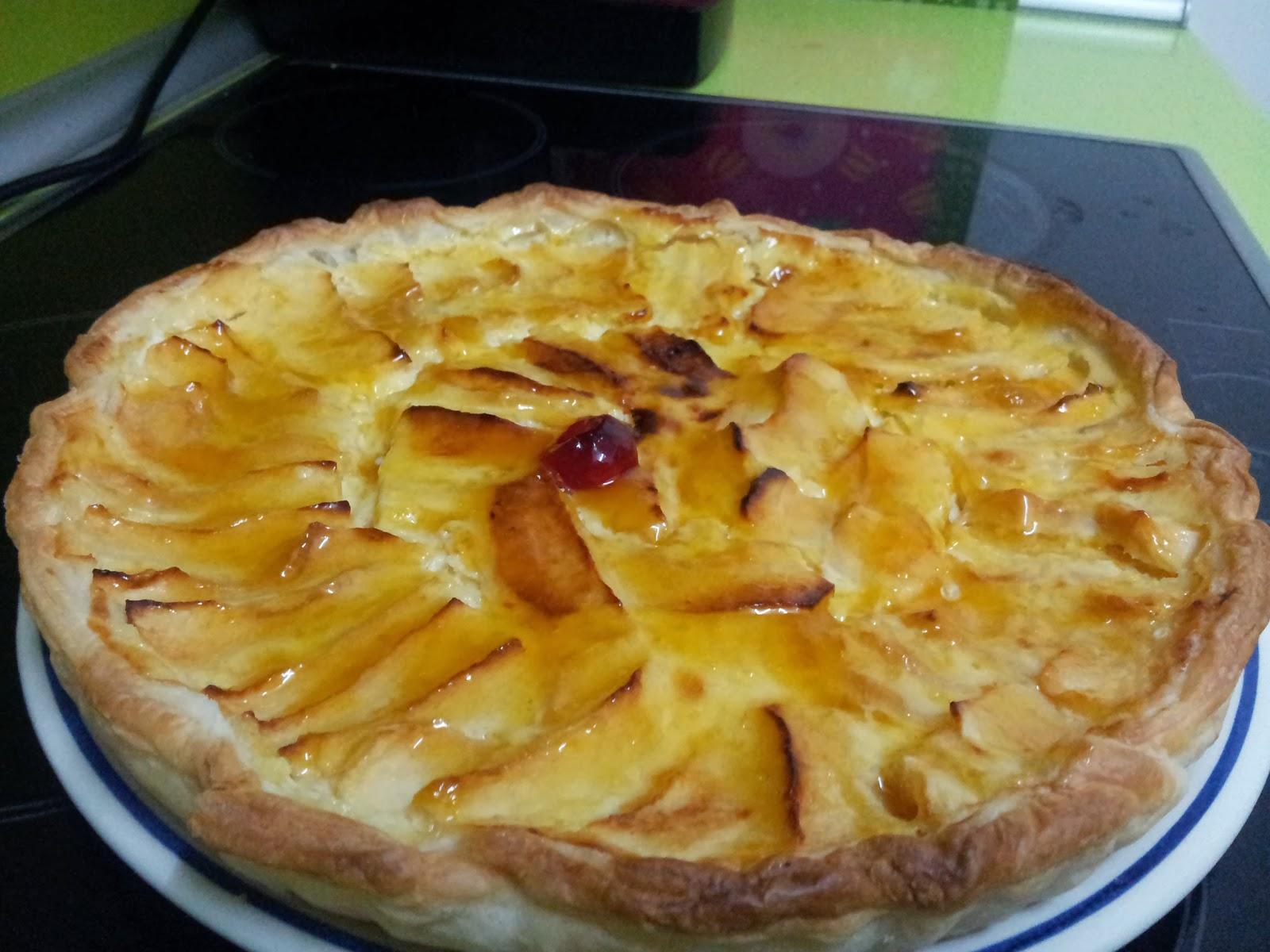 Tarta de manzana con leche condensada facil