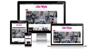 Life&Style Magazine Newspaper Blogger Templates themes