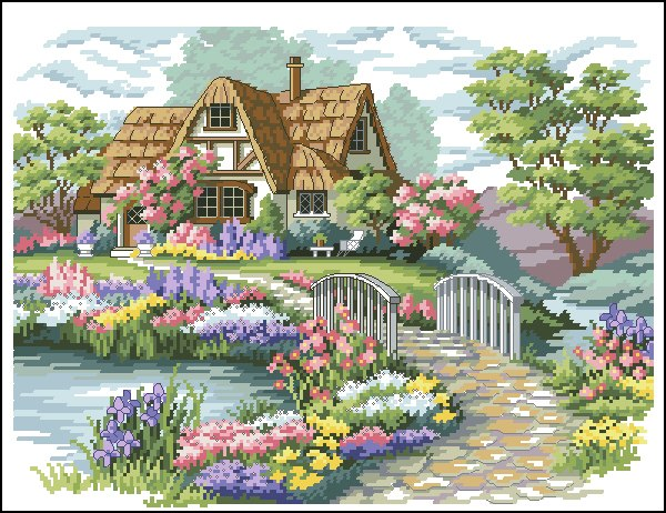Grande raccolta di schemi e grafici per punto croce free for Piani di costruzione di cottage gratuiti