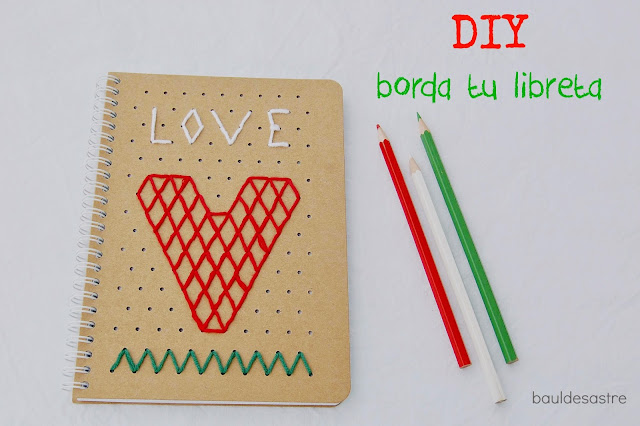 DIY libreta bordada