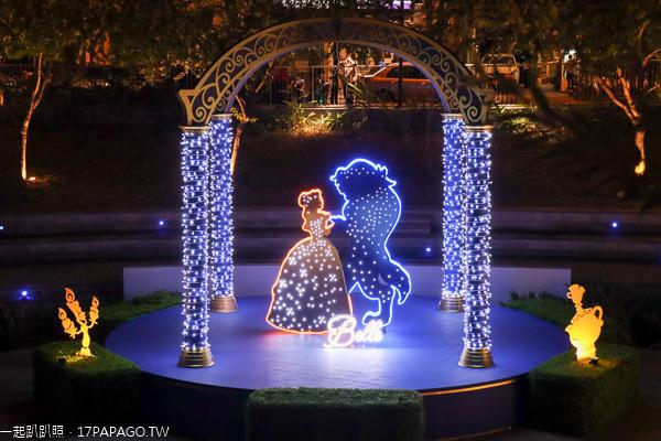 2019台中耶誕夢想世界|柳川水岸|迪士尼公主|灰姑娘|美女與野獸
