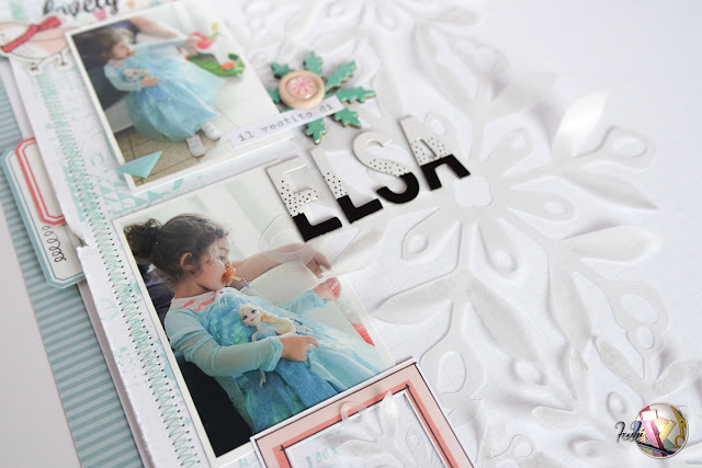 "scrapbook layout | ""il vestito di Elsa"" by kushi per Scrappiamo Insieme www.kkushi.com"