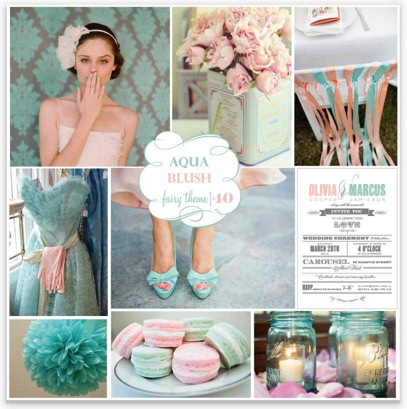 Seafoam Green Wedding Ideas: Wedding-aholic Anonymous: I Heart Coral+Seafoam