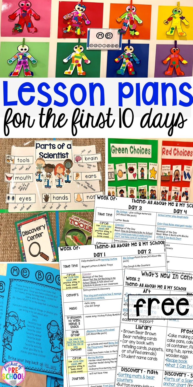 First 10 Days of School - Lesson Plans and MORE! - Pocket of