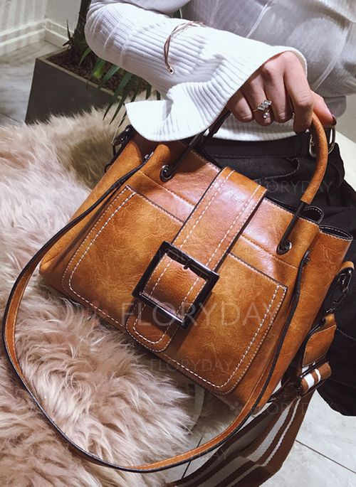 Shoulder Vintage Double Handle Bags