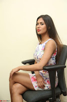 Nishi Ganda stunning cute in Flower Print short dress at Tick Tack Movie Press Meet March 2017 114.JPG