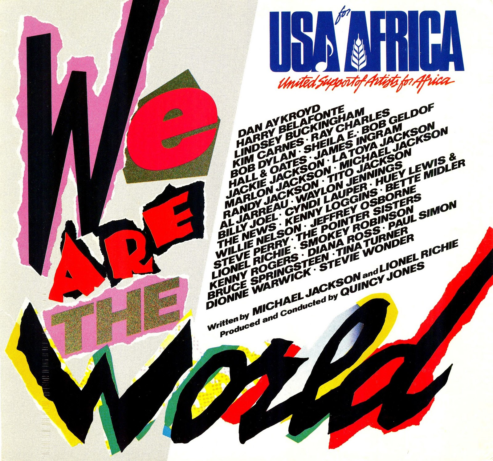 Lansure S Music Paraphernalia Usa For Africa Cyndi