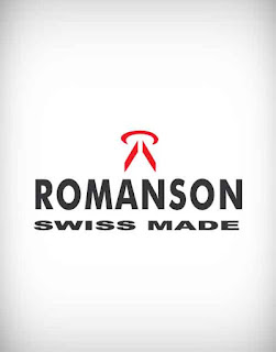 romanson, romanson vector logo, fashion, cloth, wear, dress, watch, clock, shoe, belt
