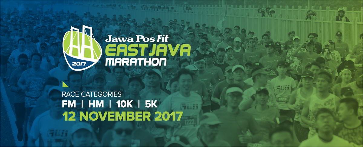 Poster Jawa Pos Fit East Java Marathon • 2017