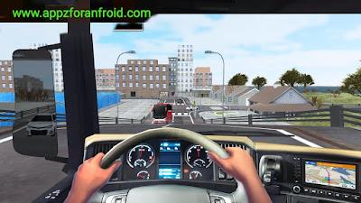 تحميل لعبة euro truck simulator 2 معدله للاندرويد بحجم صغير جداا