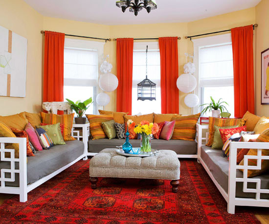 New Home Interior Design: Warm Color Schemes
