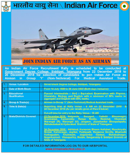 IAF Recruitment Rally at Siddipet Tealngana Group Y Non Technical Airmen Jobs.png